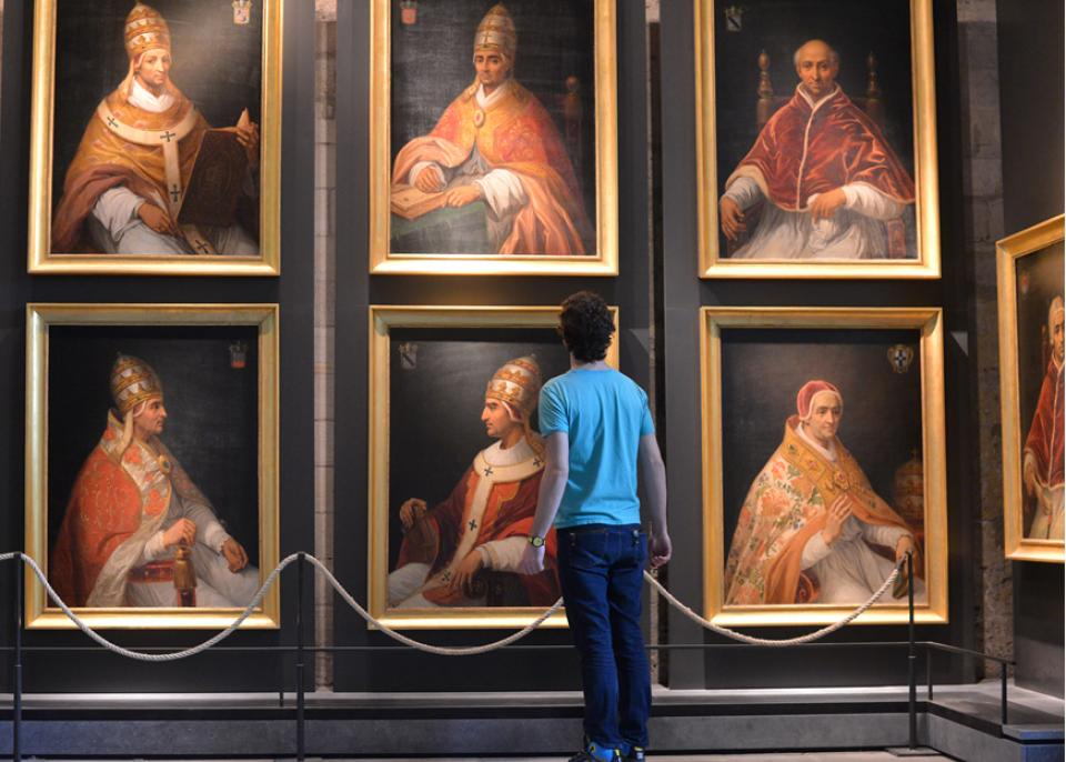 Pictures of the 9 Popes